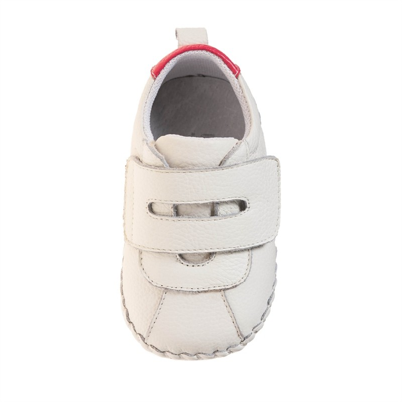 2016 littlebluelamb infant soft leather baby shoes toddler shoe with fashion design BB-A3120-WH