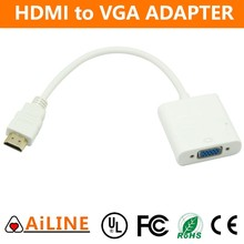AiLINE High Quality White Color Adapter Cable HDMI to VGA Converter