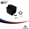 PQY STORE- 2L BLACK BILLET ALUMINUM FUEL SURGE TANK / AN6 SURGE TANK WITH 3PC AN6 FITTINGS PQY-TK83BK