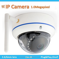 Hot selling Wireless P2P Dome IR ip camera, high definition wifi indoor infrared ip camera(720P)