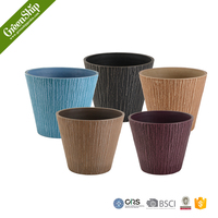 Novelty Flower Pots with Wooden Grain Effective