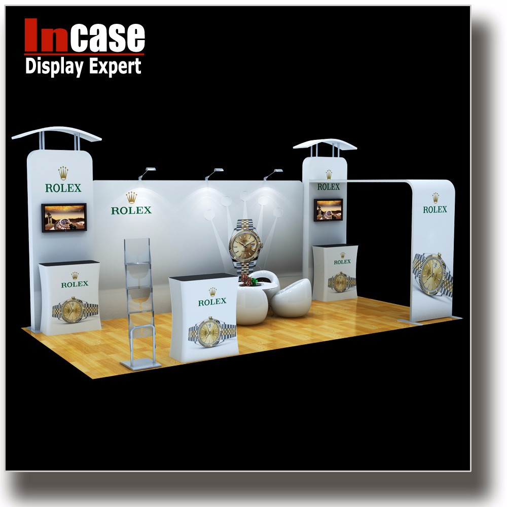 Incase Custom exhibition display stand for watches