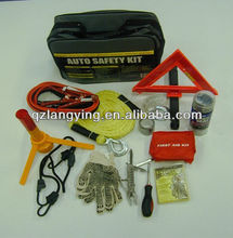 11 pcs Car Emergency Kit with Warning Triangle