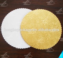 wholesale scalloped cardboard cake boards