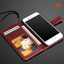 New arrival book style wallet cell phone case for iphone 7 flip case