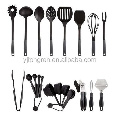 2017 top selling kitchen gadgets 20 piece private label rubber restaurant cooking utensil
