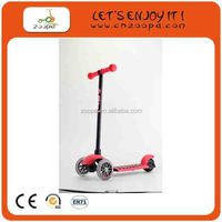 Christmas gift 125 mm wheel import china kids pedal kick scooter for wholesale