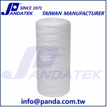pp yarn 1 micron filter, 20 inch string wound filter cartridge for whole house water filter system