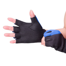 Heated Exercising Bicycle Half Finger Gloves Anti-Skid Bike Outdoor Climbing Training Gloves