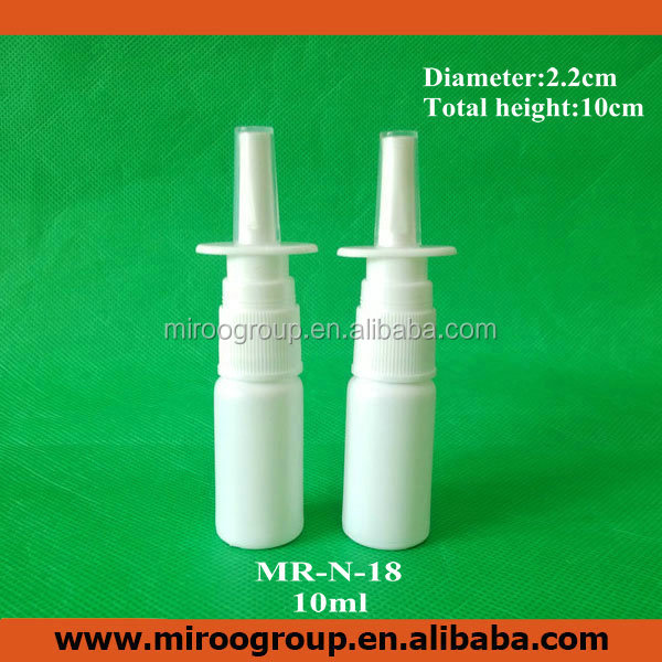 HDPE white empty 10ml nasal spray crystal custom perfume pump bottle