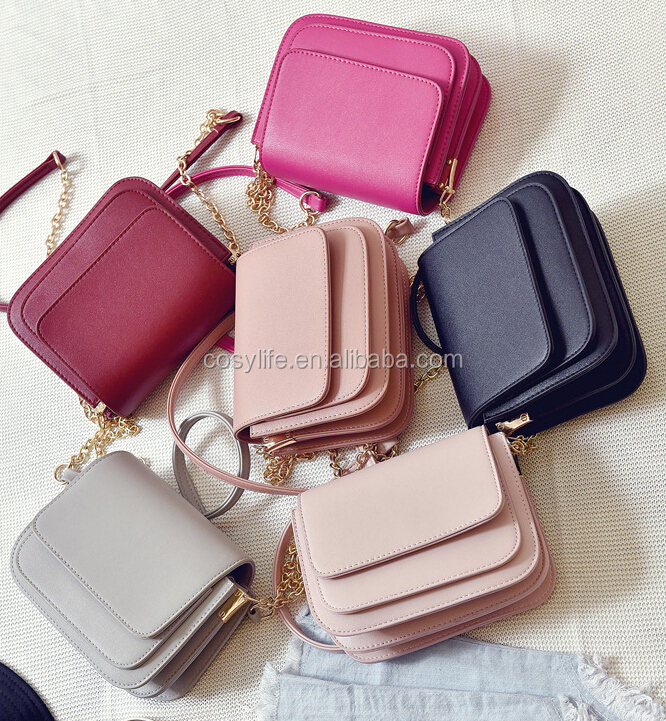Hot Sale Solid Color Is Simple And Generous Small Square Bag Shoulder Messenger Handbag Korean Version Of Small Hanbag
