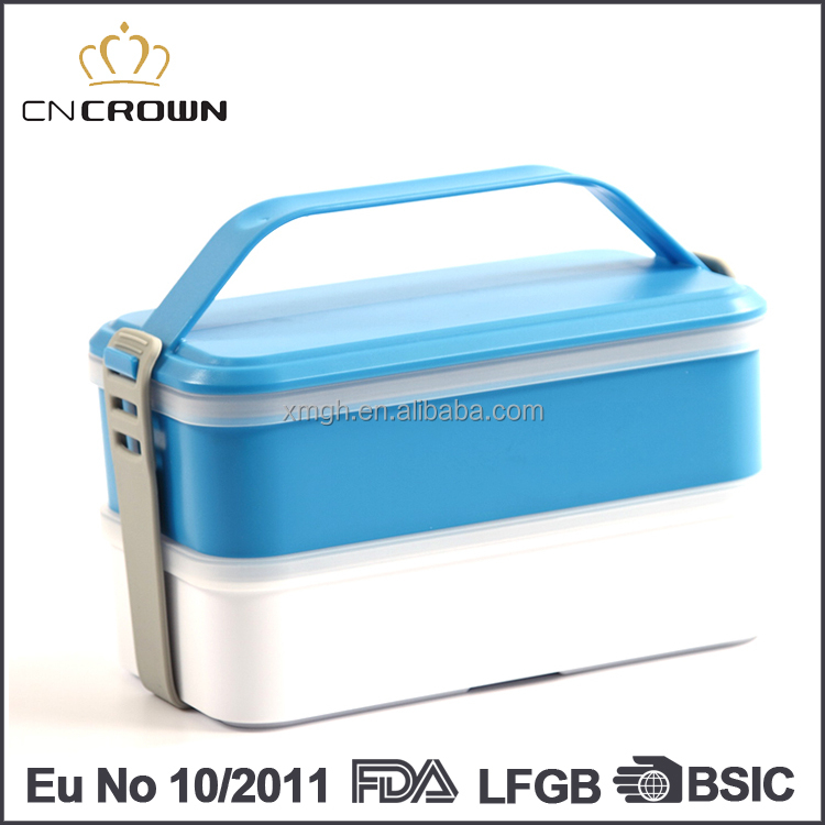 2 Layer Portable Home Goods Eco Custom Printed Lunch Box Silicone