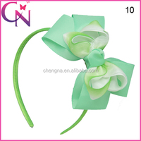 Lady Hair Band With Hair Bows In Stock CNHB-14111002-1W