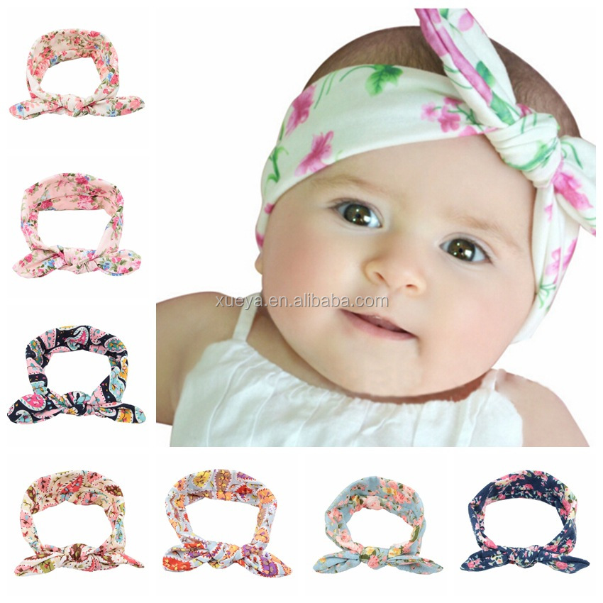 2017 New arrival fashion floral bowknot baby hairbands