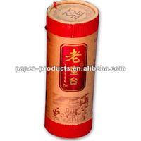 2016hot custom colored paper tea tin containers