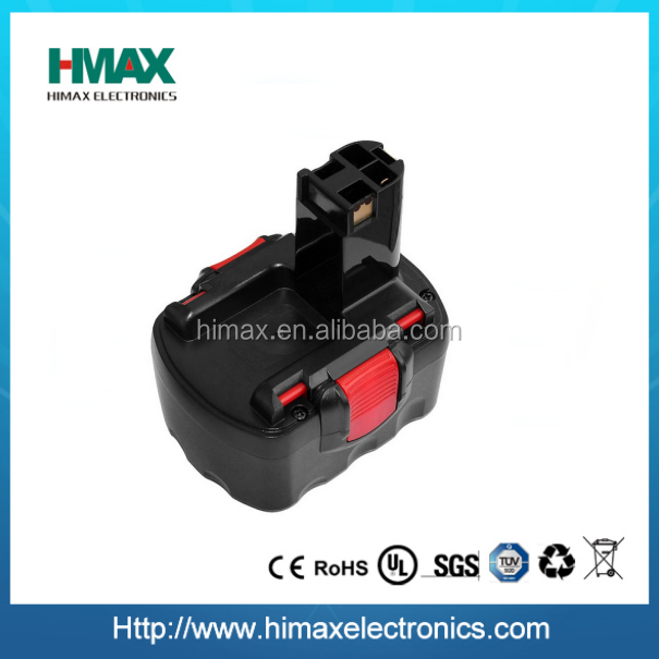 14.4V 2000mAh Rechargeable Battery Pack Power Tools Battery Cordless Drill Replacement for Bos 3660CK Ni-CD