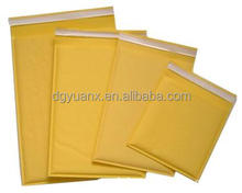 China factory custom sizes self seal gold bubble kraft paper envelope