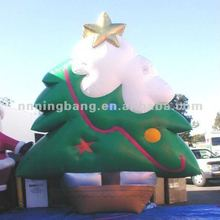 snowing cute colorful inflatable artificial christmas tree with star