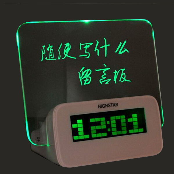 hot selling Romantic message board led recordable message clock
