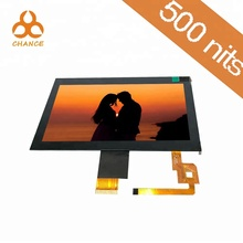 HMI screen 7.0 inch 1024*600  LVDS 400nits  transparent video ips tft lcd screen panel with capacitive touch panel
