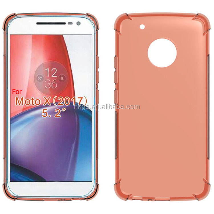 <strong>Shock</strong> Absorption Edge Design TPU Cover Full Clear Case For <strong>Motorola</strong> For Moto G5s XT1795 XT1797