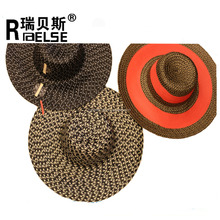 promotional cheap wholesale lady beach summer straw foldable sun hats