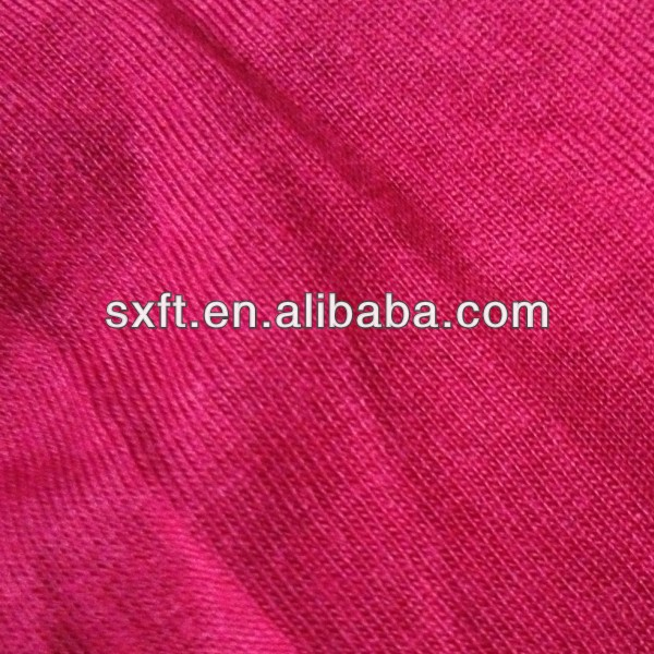 70%polyester 25%rayon/viscose 5%spandex/stretch/lycra knit TR single jersey fabric
