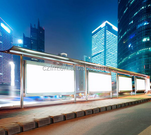Simple and easy to assemble aluminium perforated plate advertising bus shelter
