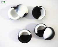 5.6ml christmas black and white ball shape silicone container custom made