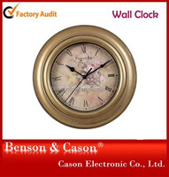 2015 Canvas Picture Fashion plastic Wall Clock