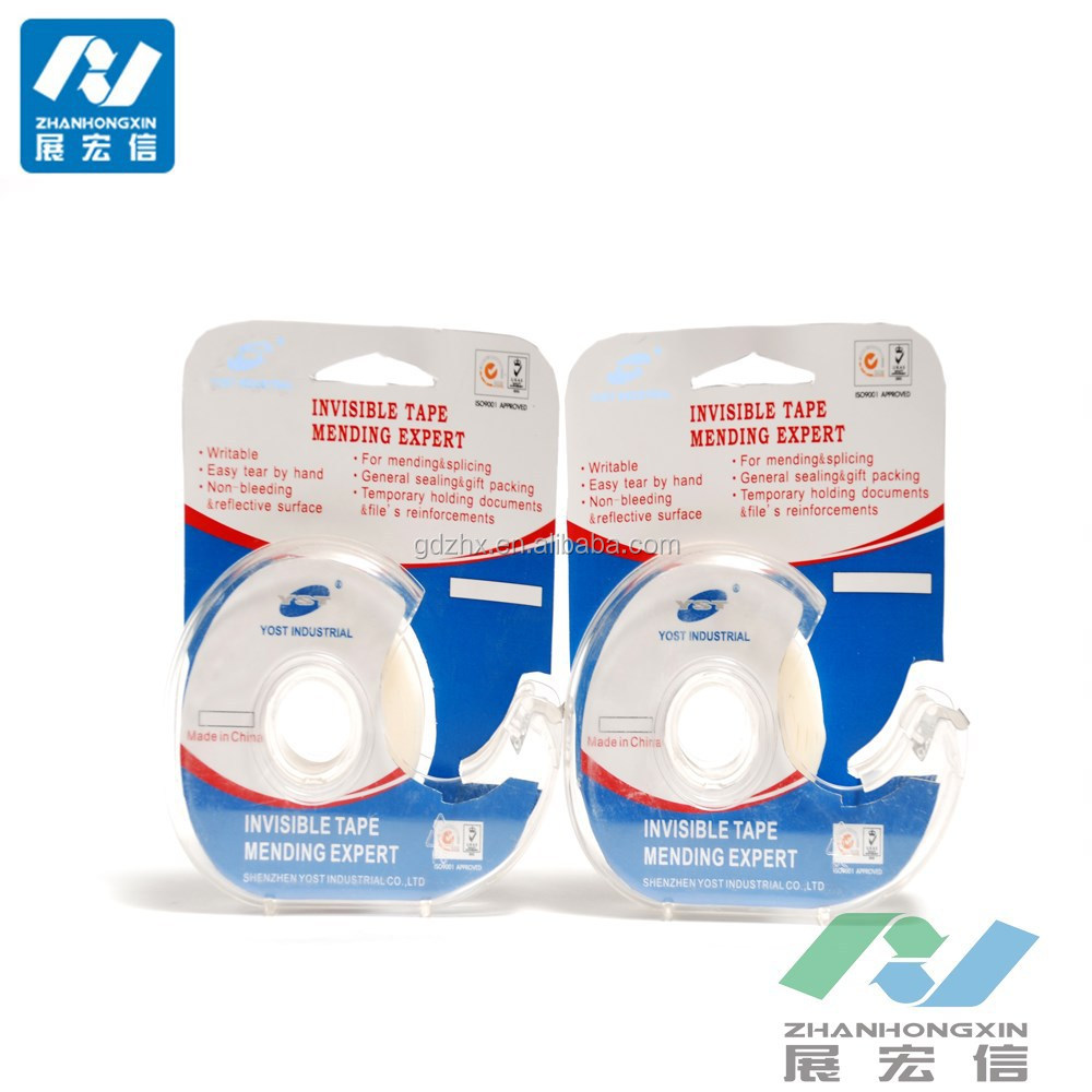translucent crystal clear adhesive bopp invisible tape
