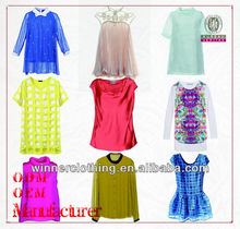 shenzhen clothing factory ladies' name brand plus size clothing