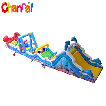 Ocean world inflatable obstacle course