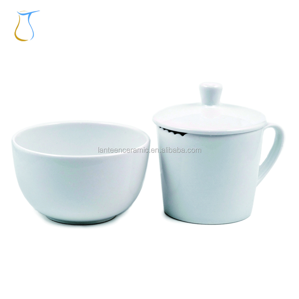 Internation Competition Custom Logo Porcelain cupping Professional Tea tasting set for Taster