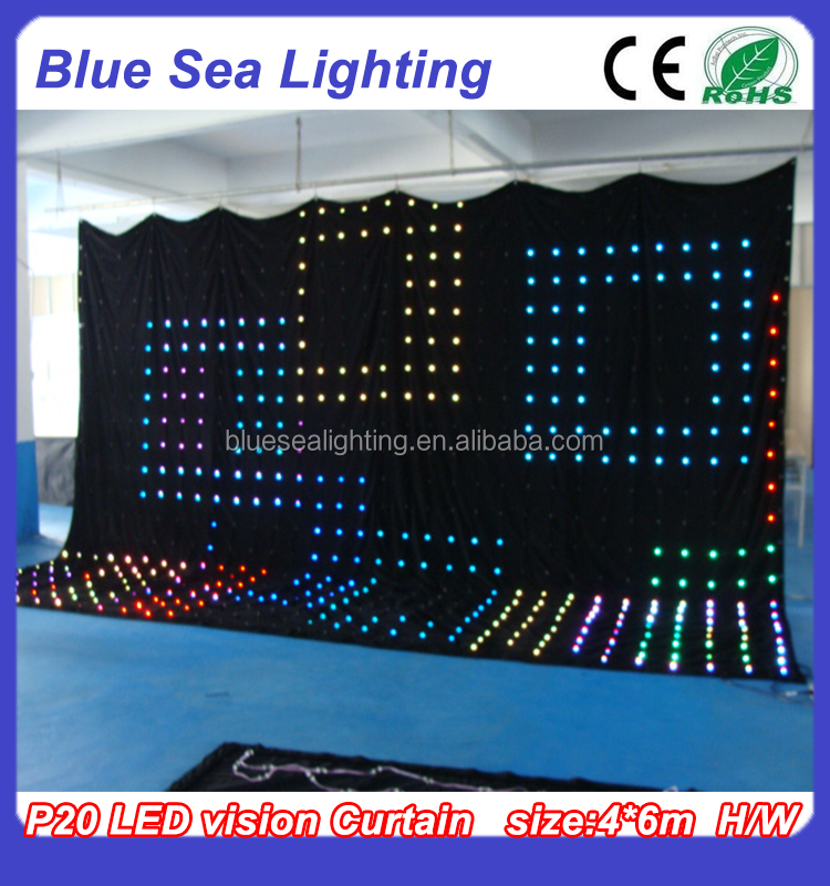 Flexible video LED wall led curtain for stage backdrop