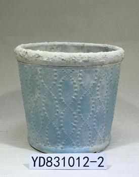 """5.7"""" colorful embossing cement planter pots"""