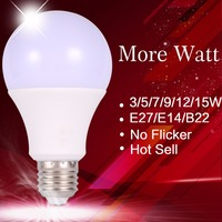 165-265V High Power 3W 5W 7W 9W 12W 15W E27 Led Light Bulb Energy Saving Led Light Led Lamp Home Lighting