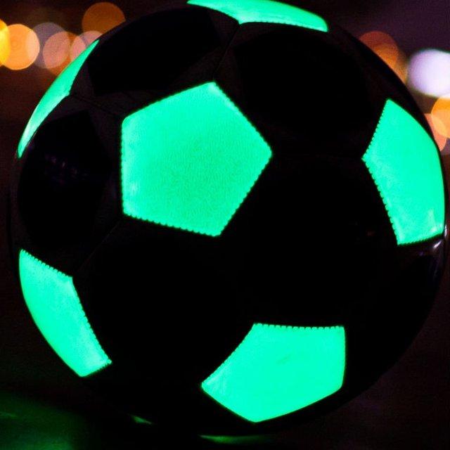 Luminous soccer ball