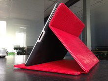 red leather cases for ipad4 smart cover case