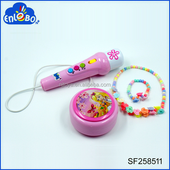 New Arrival Electronic musical microphone toy for kids with DIY Necklace Toys