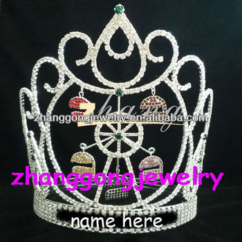 Beauty custom design crystal and rhinestone pageant crowns for sale