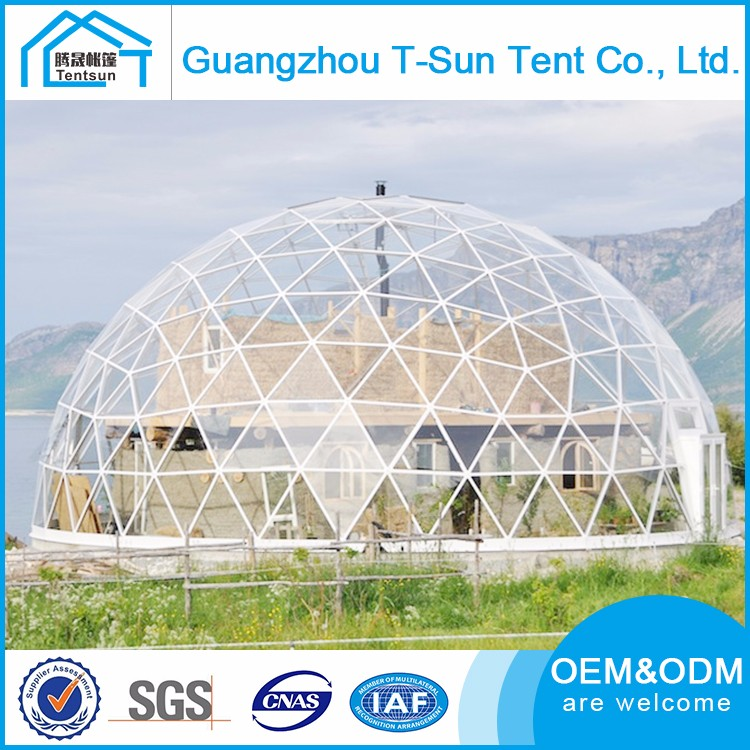 Unique Shape Custom Outdoor Event Party Tents UV Resistant Garden Tent Geodesic Dome Homes