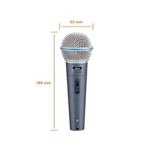 high density noise canceling dynamic microphone