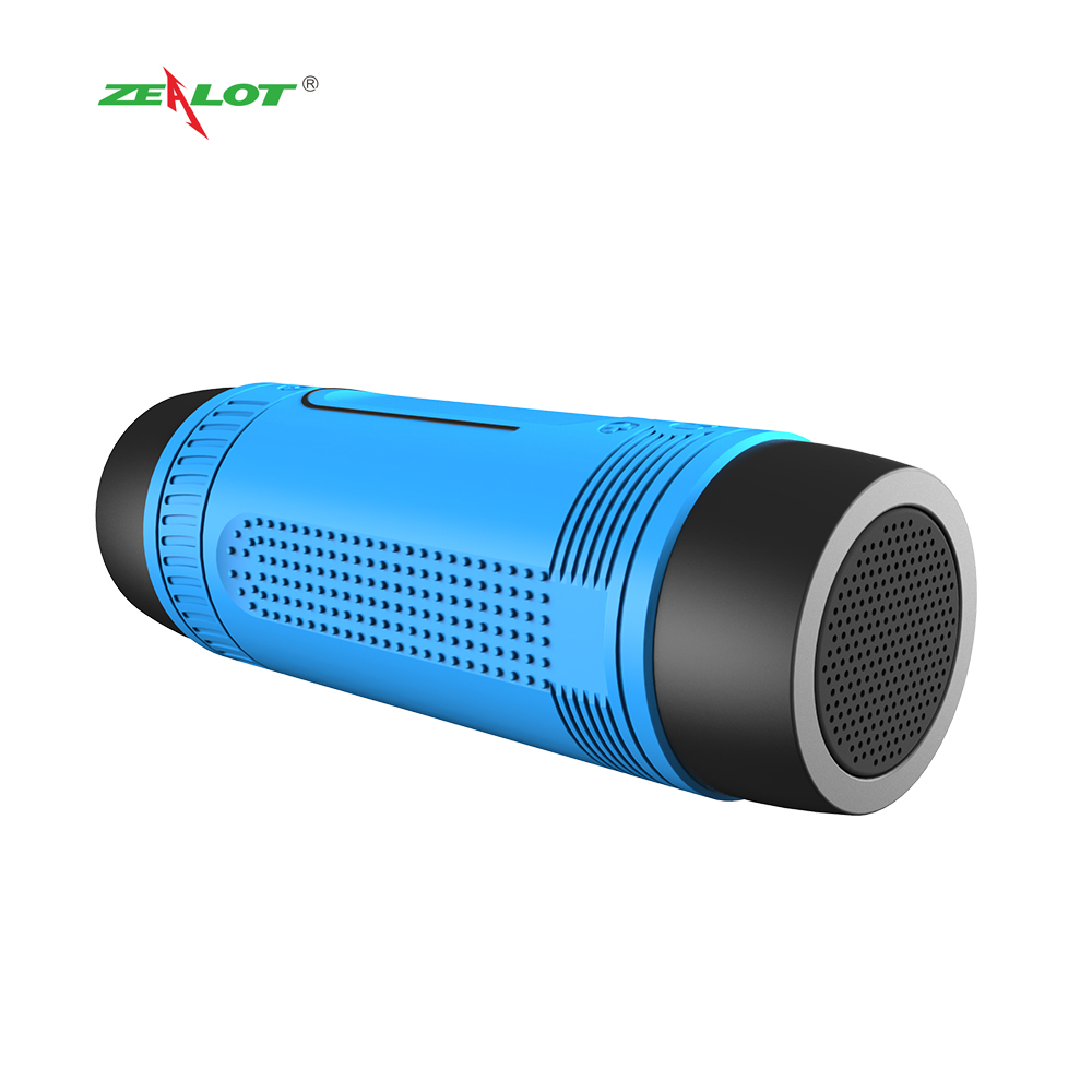 ZEALOT S1 original BT <strong>speaker</strong> with 4000 mAh power bank charge phone and FM radio, SOS flashlight torch wireless <strong>speakers</strong> bike