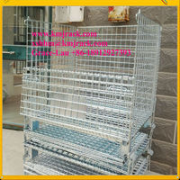 OEM brand Cargo Storage Equipment Collapsible Steel Wire Mesh Container