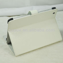 PU+ silicon book leather case for ipad mini