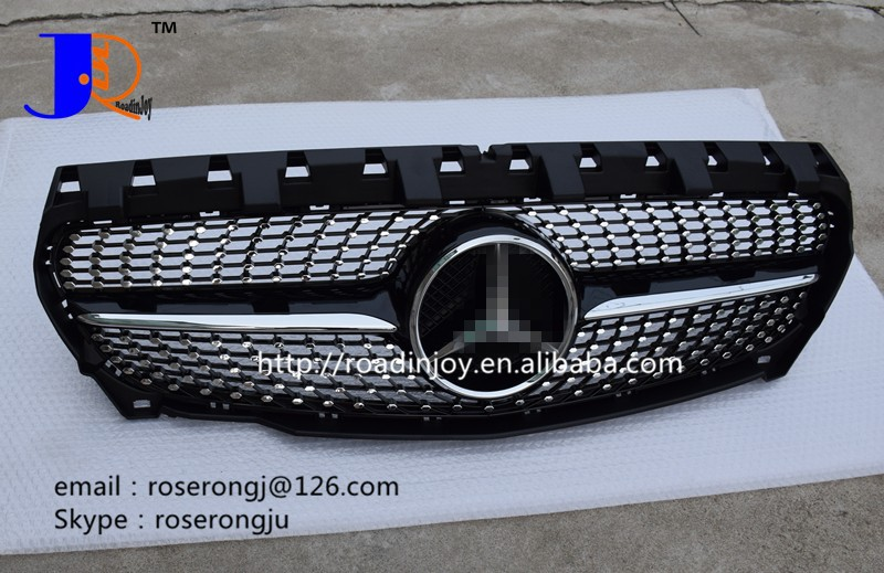 Diamond front grille FOR B ENZC117 GRILLE,CLA-class C117 AMG body kit grille