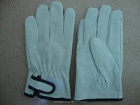 Factory supply leather driver gloves MOQ:100pairs