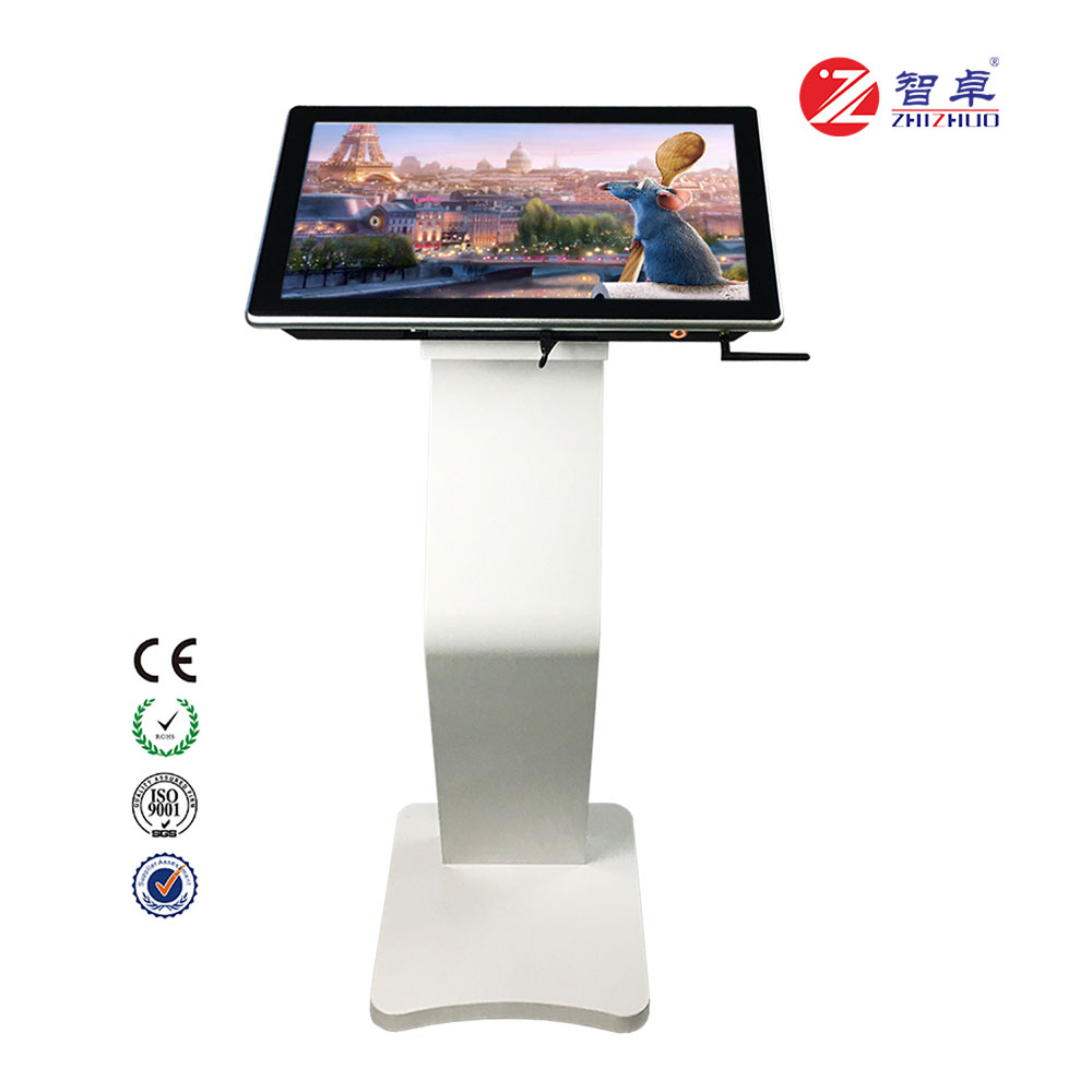 22 inch floor stand interaction touch screen tablet information kiosk