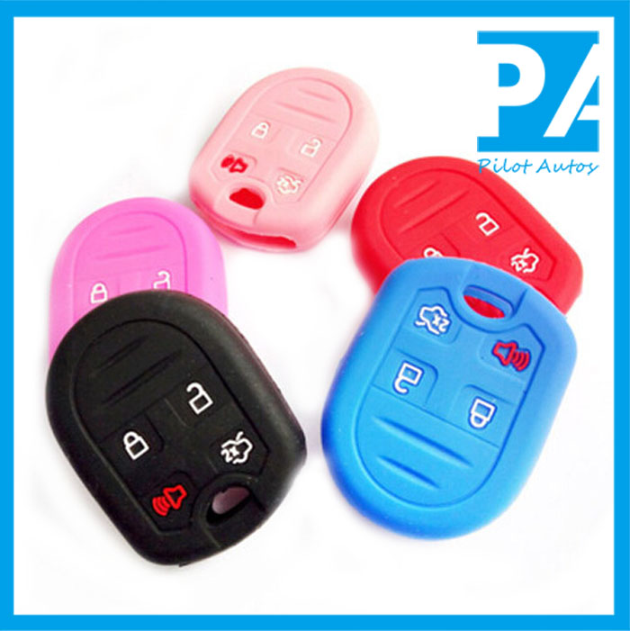 Factory wholesale Colorful High quality Silicone Car Key Cover For Ford Folding Edge